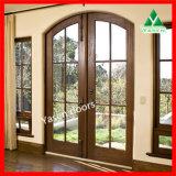 고품질 세겹 창유리 문 목제 문 목제 유리제 문