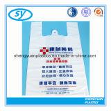Sac à provisions en plastique de traitement de gilet de T-shirt des prix de constructeur