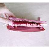 Розовый бумажник неподдельной кожи полного комплекта для повелительниц