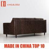 Mobília ajustada do sofá secional do couro genuíno da cor de Brown para a HOME