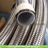 Manguito de Teflon de acero hidráulico de los Ss PTFE dentro del manguito de Teflon del alambre cruzado del acero inoxidable del manguito