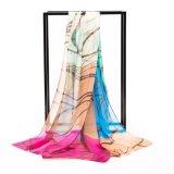 Scarf古典的な点印刷の純粋な絹のFoulard/女性