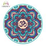Estera redonda profesional de la yoga de la impresión de la mandala hermosa de OM para el adulto y los cabritos