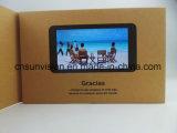 "5 "" LCD A5 VideoBrochure met Steen Glanzende Lamatation"