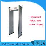 0-999 metal detector del blocco per grafici di portello di Senstivity 33zones