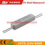 bloc d'alimentation de 24V2.5A DEL/lampe en plastique/bande flexible IP67 imperméable à l'eau