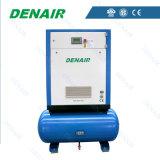 Compresseur d'air rotatoire de vis de refroidissement à l'air sur le réservoir