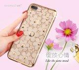 Sacos & caixas de cristal luxuosos do telefone da flor macia da margarida de TPU 3D para o iPhone 7