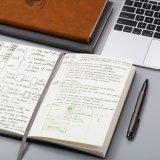 A5 우수한 두꺼운 서류상 연약한 Suade 덮개 쓰기 노트북
