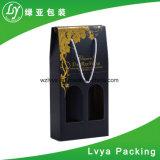 Caja de embalaje de empaquetado del vino del café del regalo del papel acanalado