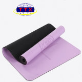 Циновки йоги PU логоса OEM изготовление циновки йоги кожаный Anti-Slip резиновый