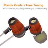 Fone de ouvido de madeira de Huanghauli da em-Orelha trançada de alta fidelidade para o iPhone