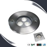 3W / 9W LED Ground Deck Light IP67, éclairage souterrain