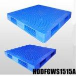Grande e pálete plástica resistente de 1500*1500 com as plataformas dobro e abertas