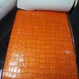 袋のための着色されたPVCワニの革