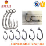 Silver Color Stainless Steel Double Prong Fishing Thon Hook 7897