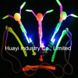 LED Light up Spinning Flying Glow Copter Toy