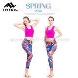 Un essiccamento rapido su elastico di vendita caldo delle 2017 delle donne alla moda di forma fisica di usura di yoga di usura ghette di compressione ansima i vestiti sottili di Runing