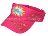 Fashion Cotton Twill Broderie Leisure Sun Visor (TRNV013)