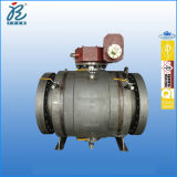 20 pollici Class 600 rf Estremità A105 Dbb Trunnion Mounted Pipeline Full Welded Ball Valves con Gear Box