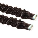 Neues Ankunft PU-Band eleganten geraden Haar des Menschenhaar-Extensions-im weichen europäischen Haar-7A auf Band