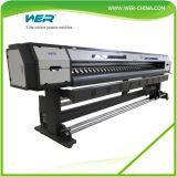 Eco Solvente 3.2m Impresora Dos PCS DX7 Cabezales de Impresión 1440dpi Adhesivo PVC Vinilo Impresora