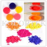Poudre rose au néon fluorescente pour le savon fabriqué à la main de coloration