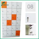 Gradas blancas del color 4 de Hotsale/armarios dominantes del empleado del bloqueo del compartimiento HPL
