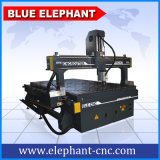 Machine 1530 Jinan, machines de découpage en bois de commande numérique par ordinateur d'éléphant bleu d'Ele en bois de la commande numérique par ordinateur 3D pour la porte, fabrication de guitare