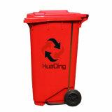 Balde do lixo de borracha plástico da roda do escaninho de lixo para ao ar livre