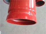 UL Pijp van het Staal van de Brandbestrijding van het Eind van de Groef van de FM Sch40 de Rode Geschilderde