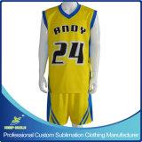 Uniformes sportifs de basket-ball d'équipe faite sur commande de sublimation