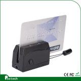 싼 소형 123 휴대용 자기 카드 독자 Mini300는 ISO 체재에 따랐다