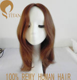 性質の女性のための膚触りがよいRemyの人間の毛髪のかつら