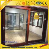 Perfil de aluminio de la puerta deslizante del surtidor de aluminio con el grano anodizado o de madera
