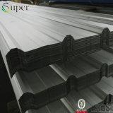 Hoja de acero acanalada galvanizada cubierta color del material para techos