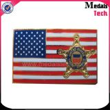 La solapa linda del oro del metal del emblema de la historieta de la manera más caliente Badge