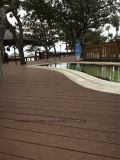 단단한 대나무 플라스틱 합성물 137 브라운 옥외 미끄럼 방지 Decking