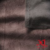 Café oscuro Poliéster Un Lado tela del ante de Sofá / prendas de vestir