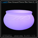 PE Material Roto Moulding Plastic LED Coffee Table