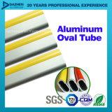 Profil en aluminium d'extrusion de l'aluminium 6063 de tube ovale de garde-robe
