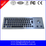 IP65 LED 역광선 트랙볼을%s 가진 산업 금속 키보드
