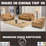 Lizz Möbelbrown-Farben-Leder-Sofa mit den festes Holz-Armen