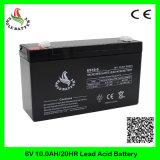 bateria acidificada ao chumbo recarregável de 6V 10ah Mf para o equilibrador elétrico