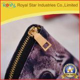 Новый дешевый длинний бумажник PU печатание застежки -молнии для женщин