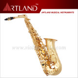 Eb Key Golden Lacquer Finish Saxophone Alto (AAS4506)