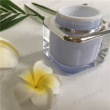 化粧品の包装のための正方形シリーズ50gラベンダーのアクリルのクリーム色の瓶(PPC-ACJ-077)