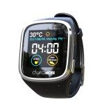 La pantalla táctil de 1.54 pulgadas IP65 impermeabiliza el reloj elegante con las vendas duales G/M y Wi-Fi, GPS y el ritmo cardíaco dinámico, ECG, supervisión de la presión arterial, el recordar sedentario