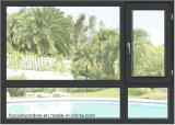 Finestra di vetro di alluminio insonorizzata su ordine della stoffa per tendine