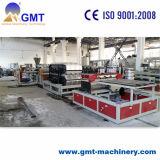 Kurbelgehäuse-Belüftung farbiger Glasur-Dach-Fliese-Plastikproduktions-Strangpresßling, der Maschinerie herstellt